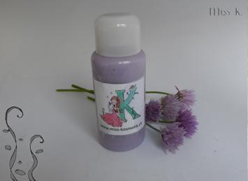 Lait de douche violette lactée