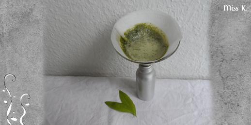 Zitronenverbene Mazerat mit Turboextraktion