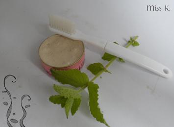 Feste Zahnpasta mit Minze