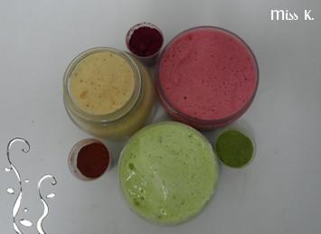 Duschgel mit natürlichen Farben