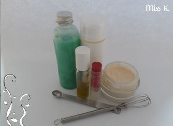 Ein anderes Geschenk: ein Kurs um seine Kosmetika selber zu herstellen