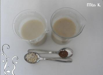 Leinsamen-Gel und Hafermilch