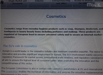 Links zur Sicherheit von Kosmetika