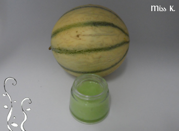 Gel vert pour les cheveux au melon