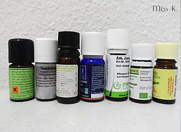 Vorsichtsmassnahmen bei ätherischen Ölen